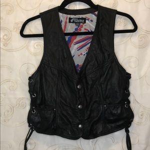 Authentic 100% leather Volcom vest size m